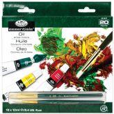 Sada olejových barev Royal & LANGNICKEL 18x12 ml+2x štětec