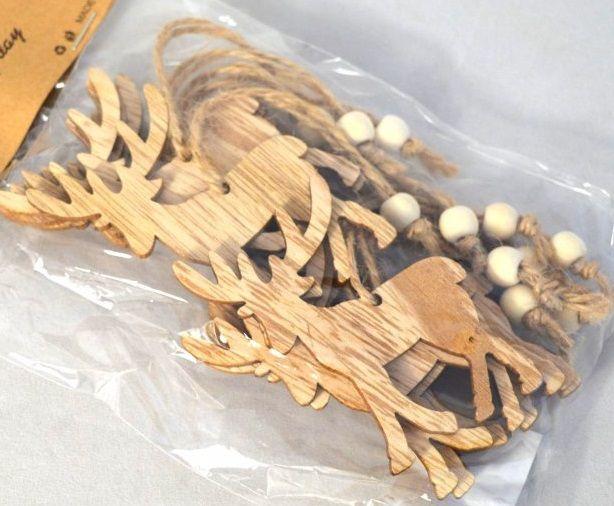 Dekorace dřevo JELEN 7cm - 1ks
