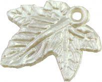Korálky akryl imitace mušloviny LÍSTEK 20x18mm - 1ks