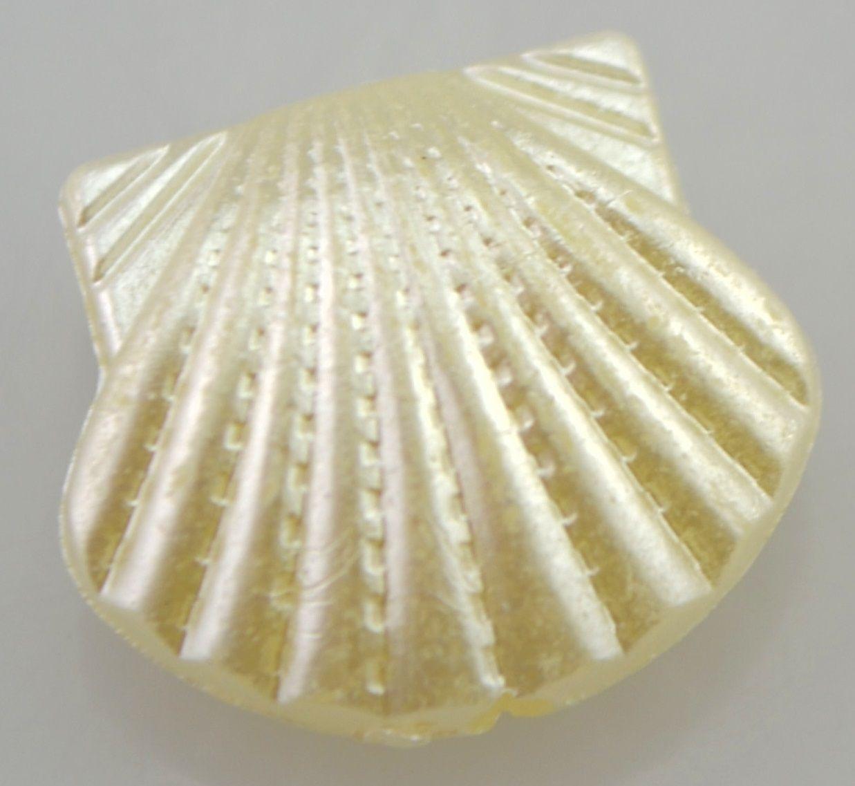 Korálky akryl imitace mušloviny MUŠLE 16x15mm - 1ks