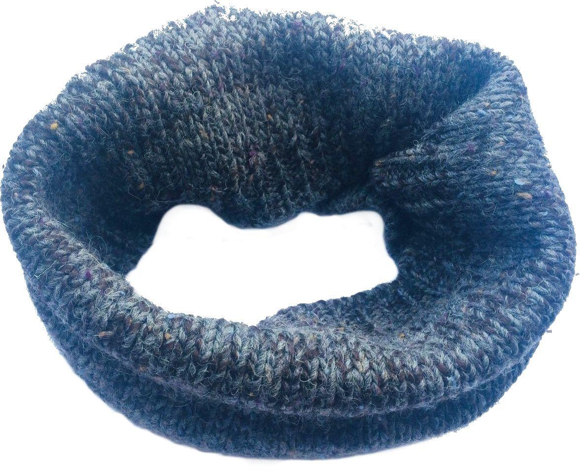 Pletený nákrčník šedý 30x60cm Wool&Co