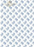 Rýžový papír MODRÉ RŮŽIČKY 30g - A4