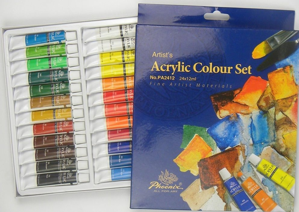 Sada akrylových barev STUDIO Phoenix 24x12ml