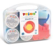 Sada prstových barev v kufříku a doplňky PRIMO 4x100g MOROCOLOR
