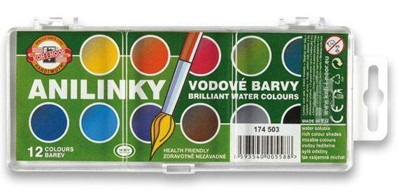 Vodové Anilinové barvy 12 barev Koh-i-noor