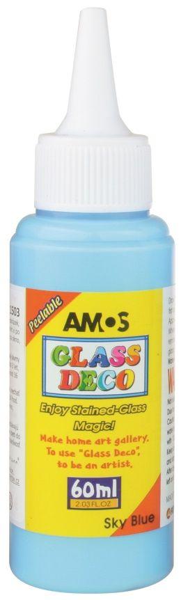 Barva na sklo Glass deco 60ml - Tm.modrá Amos