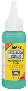 Barva na sklo Glass deco 60ml - Tm.zelená Amos