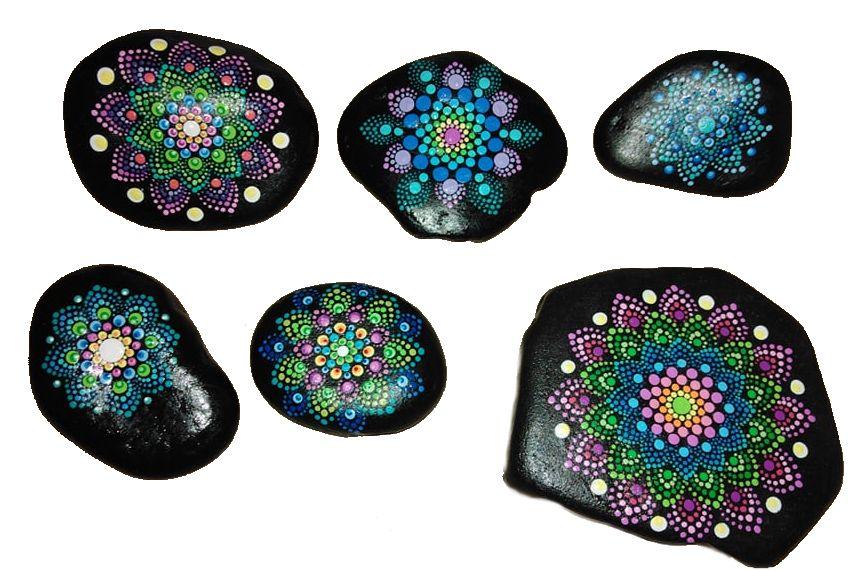 Tečkovaná mandala a malování na kameny