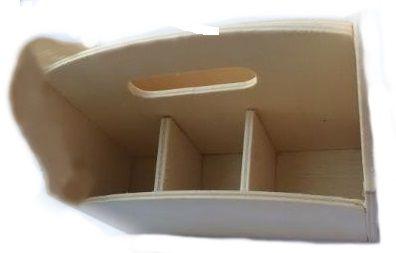 Dekorace dřevo Zásobník s 4 přihrádkami 13,5x8,5x11,3cm