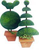 Dekorace Stromeček dřevěný velký 24x11cm