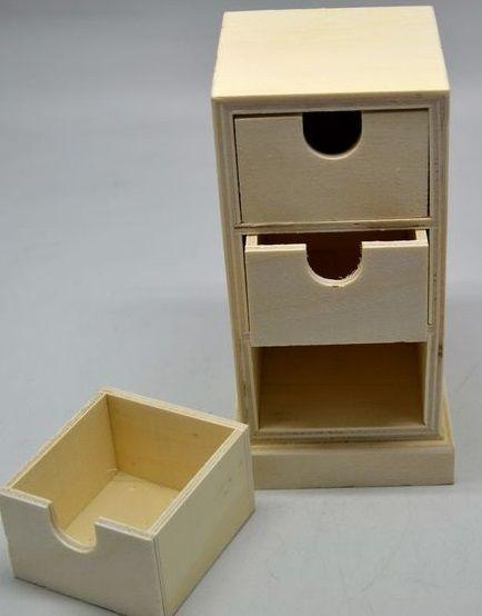 Dřevěná komoda 3 šuplíky 17x7,5cm