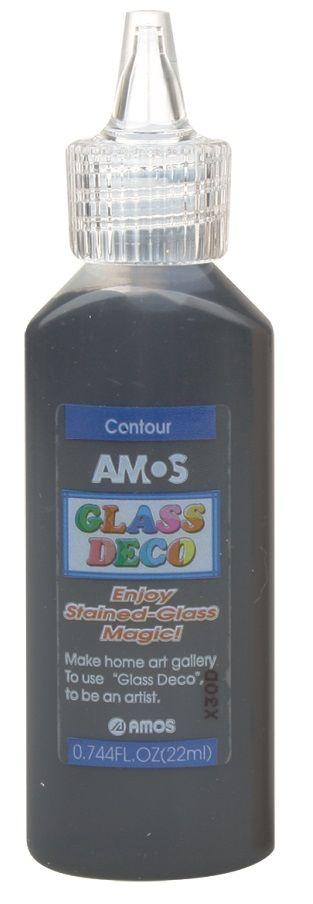 Kontura k barvičkám na sklo 22ml Amos