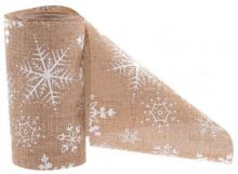 Juta vánoční VLOČKY 12cm - 5m