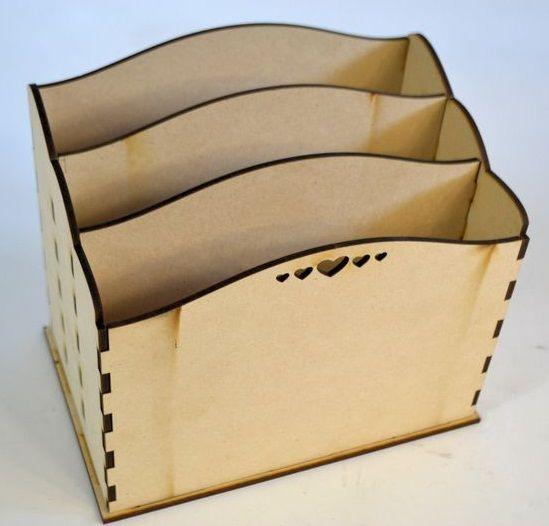 Kreativní sada - dřevěný ZÁSOBNÍK 17x11x14,5cm