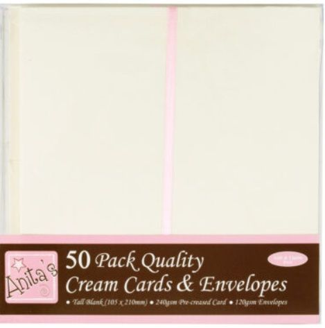 Obálky a karty krémové DL 240g/m2 50ks
