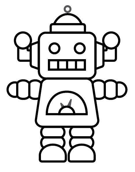 Sklíčko plast Robot 7x6cm