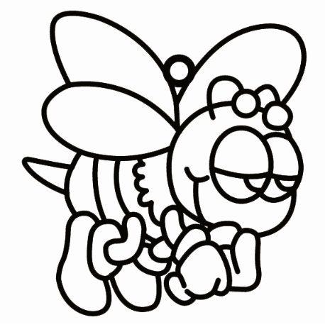 Sklíčko malé - včelka 6x6cm