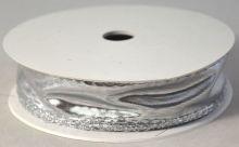 Stuha metalická organza lesklá s drátkem 30mm -1m