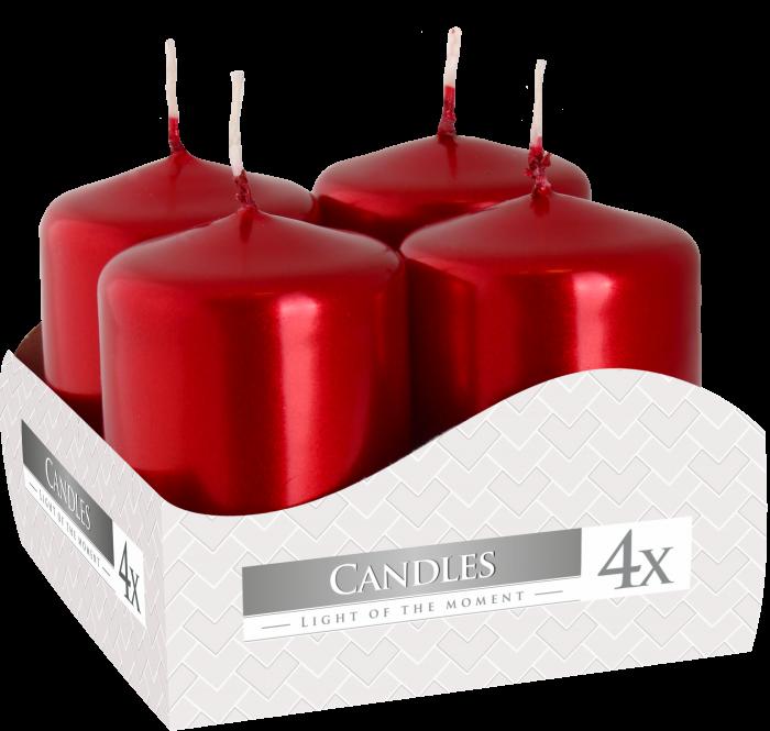 Svíčky adventní METALICKÉ 60x40mm - 4ks