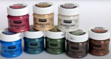 Třpytivý gel (pasta) průhledný 50ml Pentart