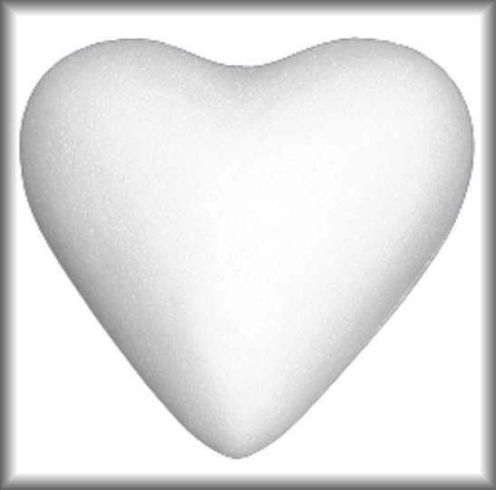 Srdce polystyren 5cm - 1ks