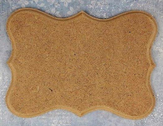 MDF frézovaná ozdobná plaketka 10x7,5cm