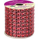 Diamantový pás šíře 50mm červený - 2m