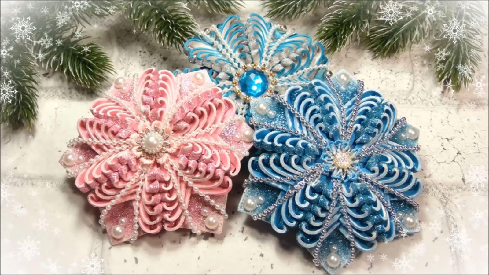 Vánoční ozdoby ze třpytivé pěnovky