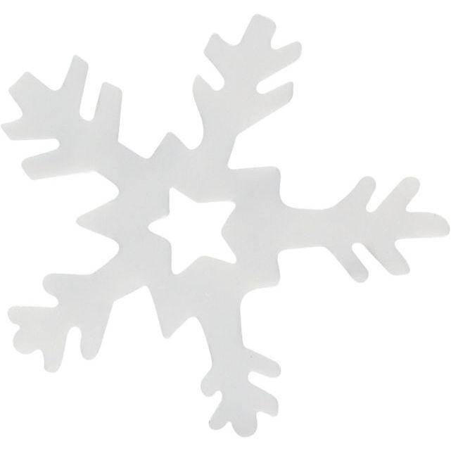 Konfety VLOČKY bílé s dírkou 23mm - 14g