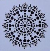 Šablona plastová MANDALA 13x13cm více variant
