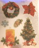 Samolepky metalické Vánoční 14,5x11,5cm