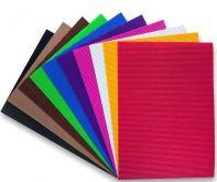 Dekorační vlnitý papír A4 160g - 1ks