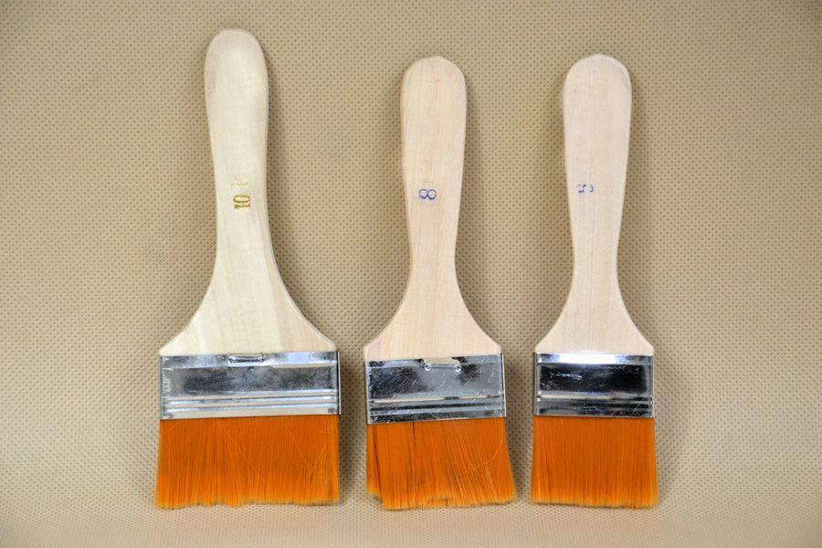 Sada syntetických štětců 3,5cm,5cm,6,5cm - 3ks