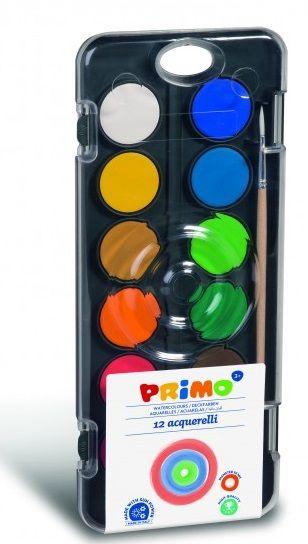 Vodové barvy PRIMO 12barev + štětec Morocolor