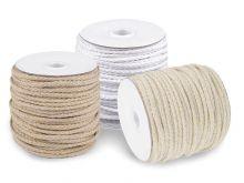 Oděvní šňůra / bavlněná příze / knot Ø5 mm splétaná . 45m