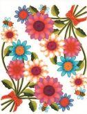 Okenní fólie rohová květinová 33,5x26cm - Slunečnice