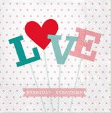 Ubrousek 33x33cm LOVE
