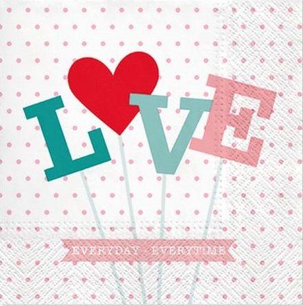 Ubrousky 33x33 cm LOVE