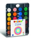 Vodové barvy PRIMO 24barev + štětec