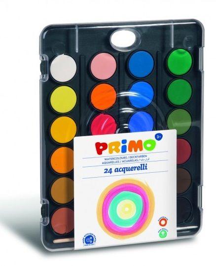 Vodové barvy PRIMO 24barev + štětec Morocolor
