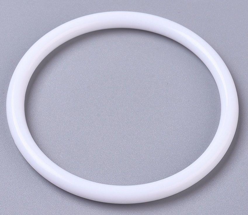 Plastový kroužek bílý 49,5mm - 1ks