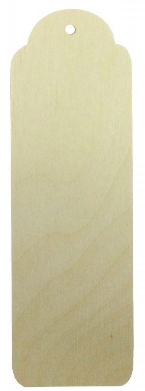 Dřevěný závěs / záložka VIZITKA 16 x 5cm