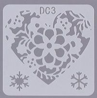 Šablona plast SRDCE 13x13 cm