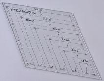Šablona plastová DIAMANT na patchwork 270x156mm