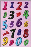 Samolepky barevné  ABECEDA a číslice 8,5x16cm