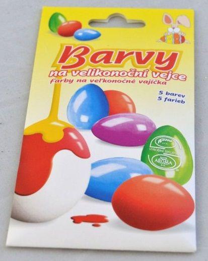 Velikonoční barvy na vajíčka - 5 barev