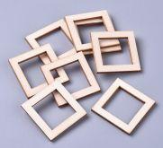 Dekorace dřevo RÁMEČEK čtverec 30x30mm - 1ks