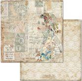 Kreativní oboustr.papír TVÁŘ 190g/m2 - 30,5x30,5cm