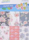 Kreativní papíry KAKTUSY 120g/m2 14x19cm - 24listů