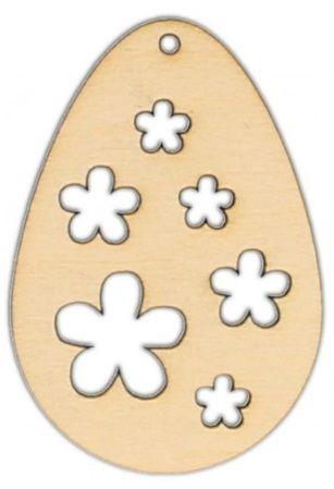 Dekorace dřevěná VEJCE vyřezávané 50x35mm